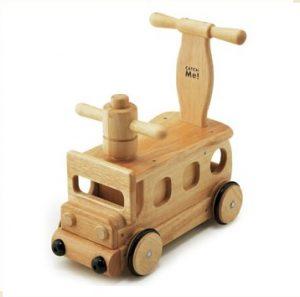 7. 野中製作所 木製火車滑步學步車