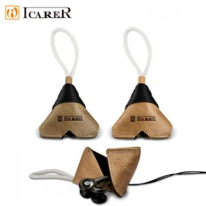 9. ICARER 神州系列 手工真皮耳機收納包