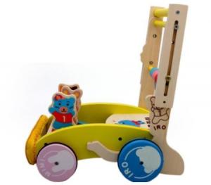 4. 可愛造型木製升降助步車