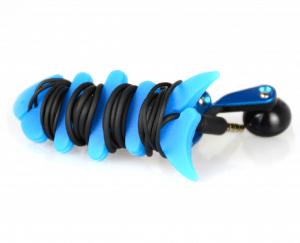 9. 台灣榮工 魚骨頭軟矽膠螢光耳機捲線器