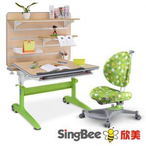 3. SingBee 特殊L型掛版書桌架組