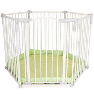 2. L.A. Baby 多功能兒童自動上鎖安全圍欄