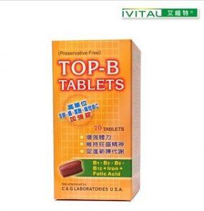 4. IVITAL 艾維特 葉酸+B群+肌醇+鐵劑膜衣錠/70錠
