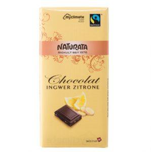 6.Naturata 有機檸檬薑糖57%巧克力/100g