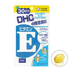 1. 日本 DHC 維他命E/30粒(成人每日1粒)