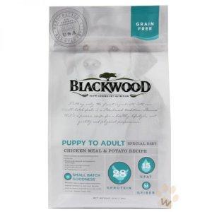 7. BLACKWOOD 柏萊富 無穀全齡 低敏純淨配方(雞肉+豌豆)/5磅(2.27kg)
