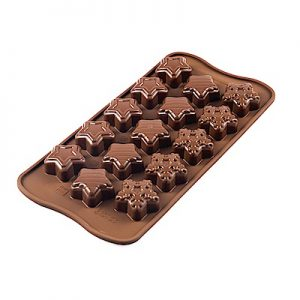 1. SiliKoMart 巧克力果凍冰塊模具/4公分×15個
