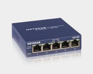 8. NETGEAR 5埠網路交換器 GS105(10/100/1000Mbps)